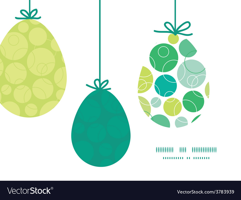 Abstract green circles hanging easter eggs vector | Price: 1 Credit (USD $1)
