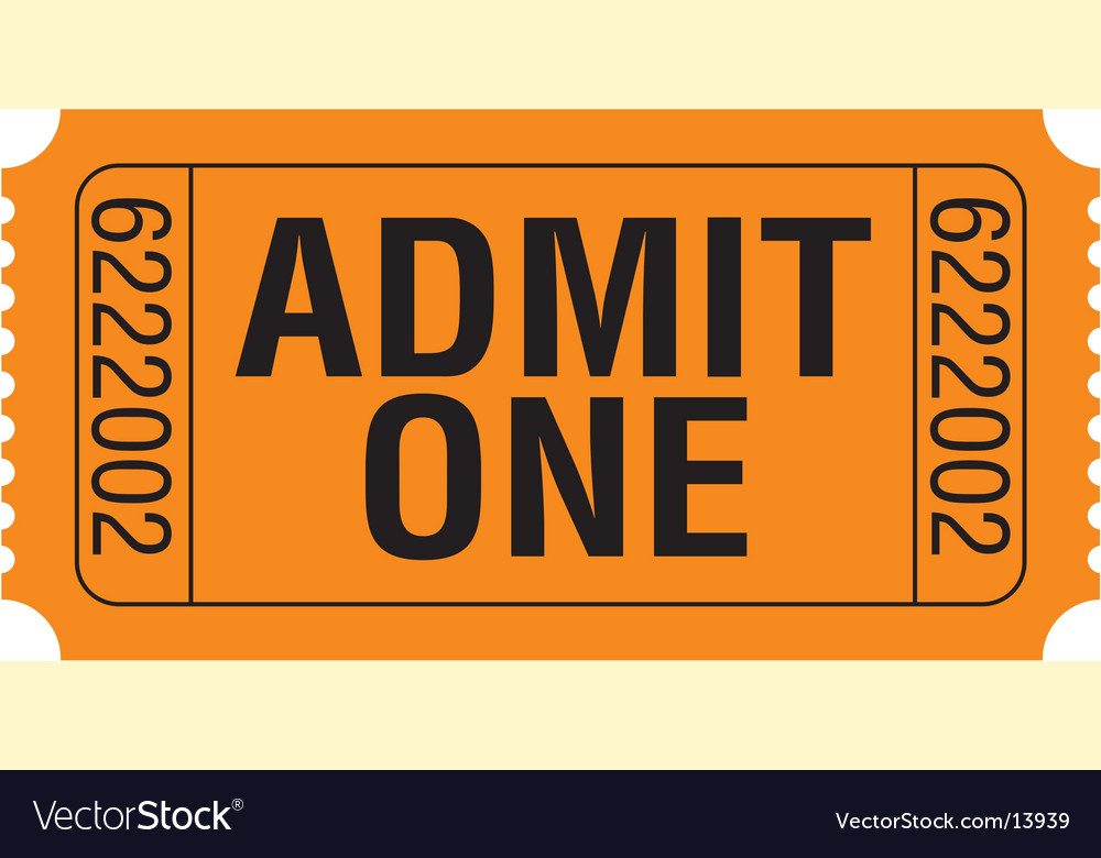 Admit-one vector | Price: 1 Credit (USD $1)