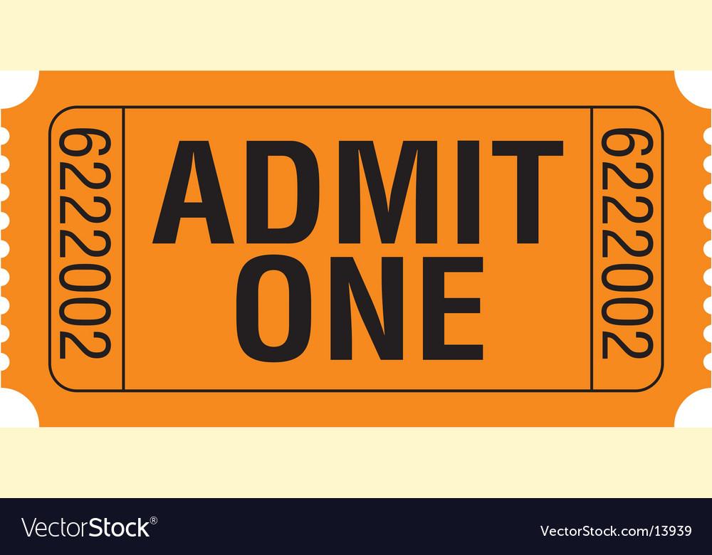 Admit-one vector | Price: 1 Credit (USD $1)