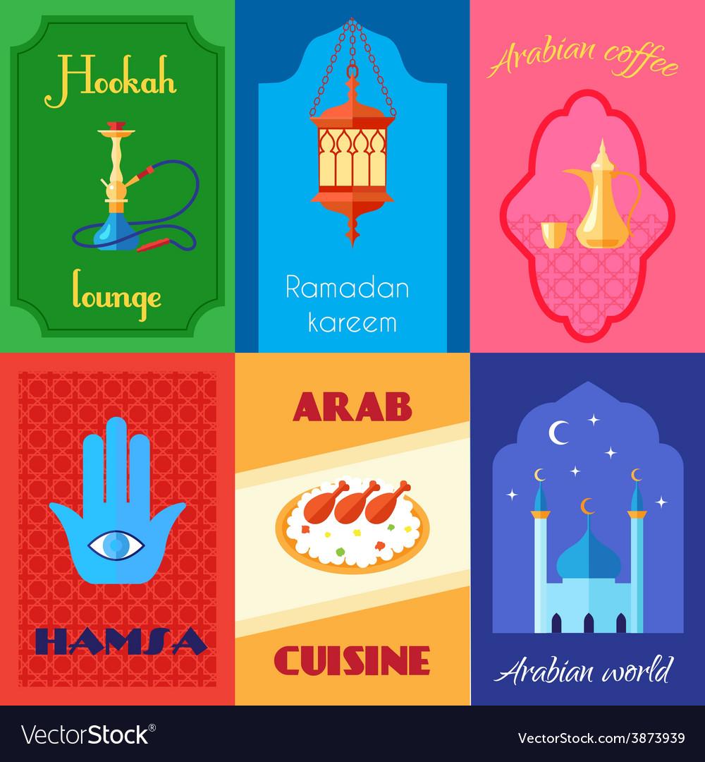 Arabic culture poster vector | Price: 1 Credit (USD $1)