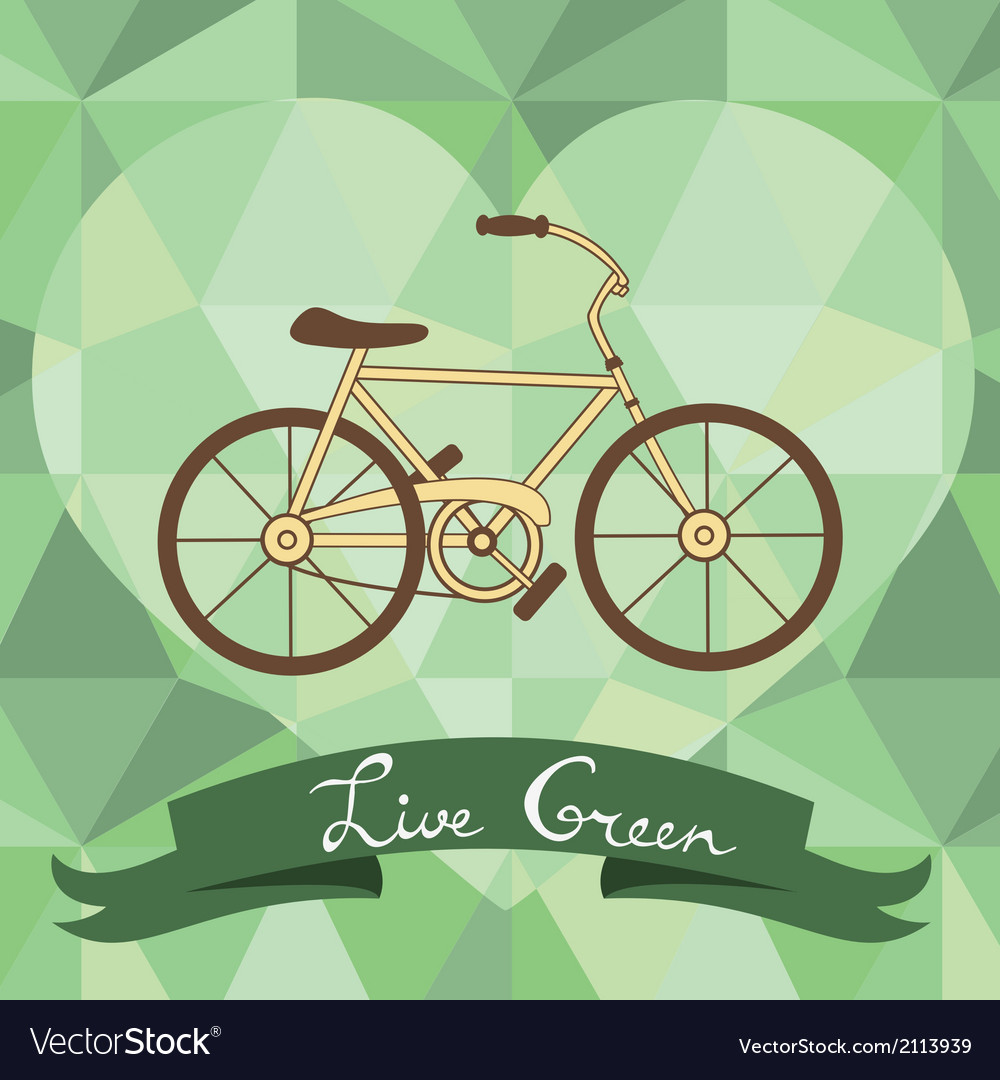 Bicycle on a geometric background vector   Price: 1 Credit (USD $1)