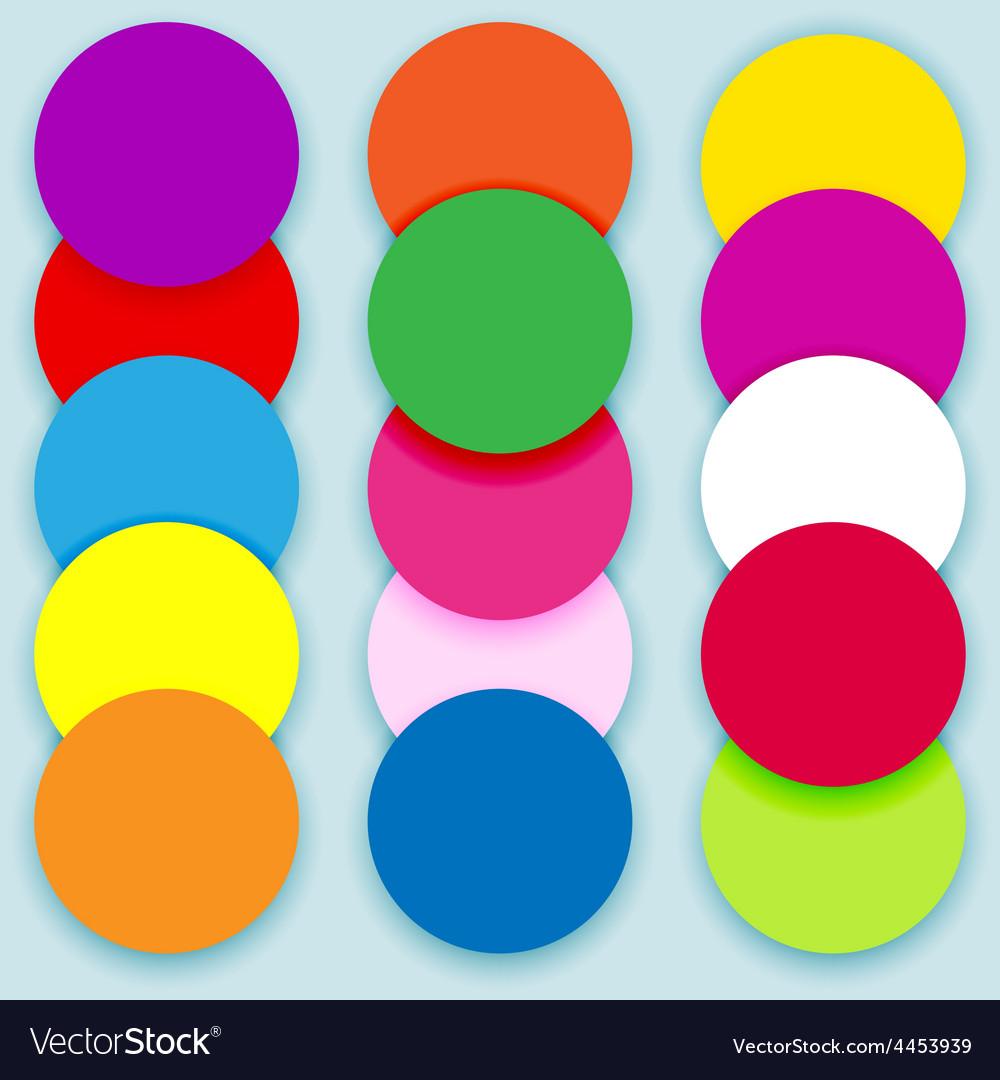 Colorful circles layered vector | Price: 1 Credit (USD $1)