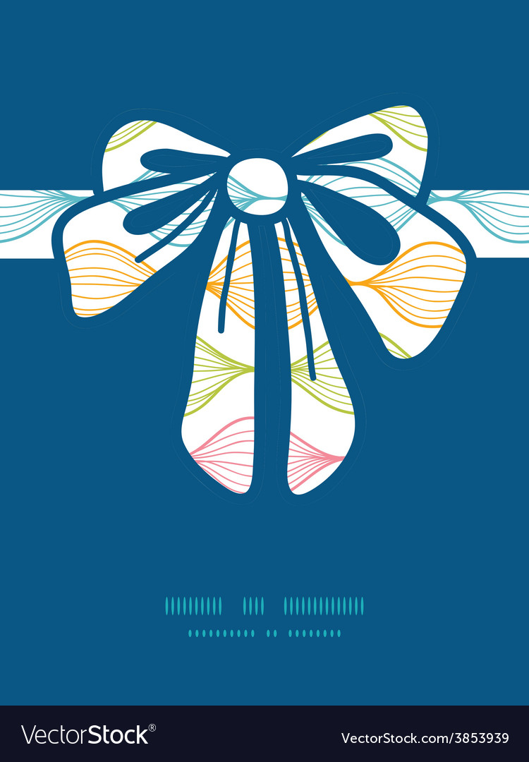Colorful horizontal ogee gift bow vector | Price: 1 Credit (USD $1)