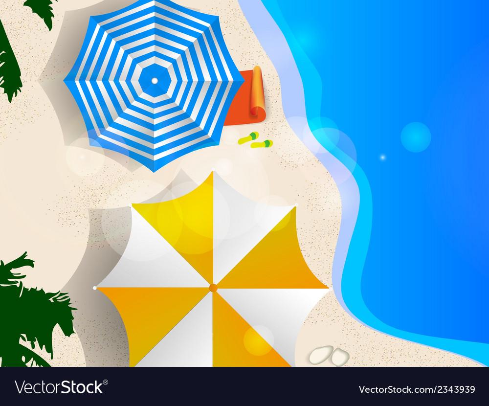 Couple of umbrellas vector | Price: 1 Credit (USD $1)