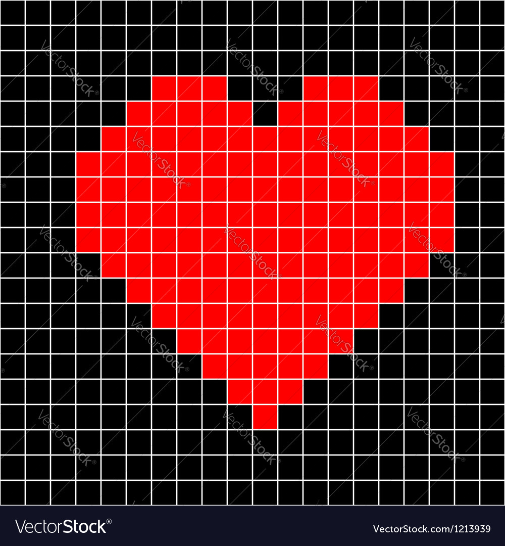 Cross-stitch heart pattern vector | Price: 1 Credit (USD $1)