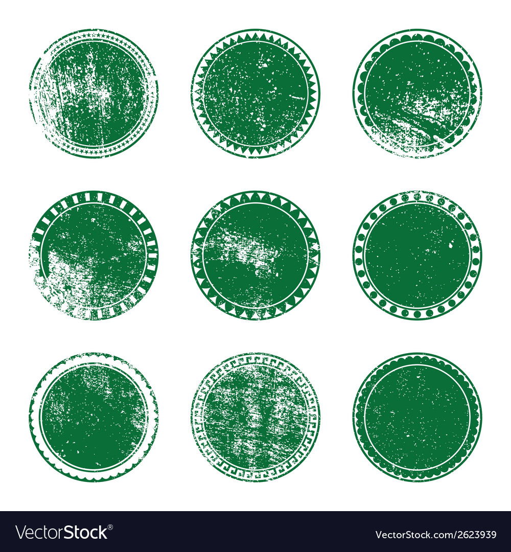 Green grunge stamp set vector | Price: 1 Credit (USD $1)