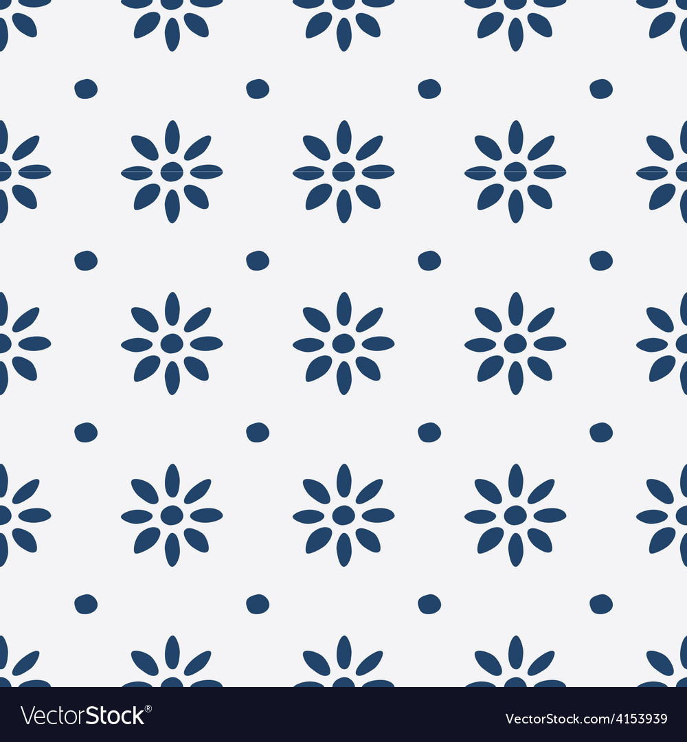 Hand drawn seamless indigo pattern vector | Price: 1 Credit (USD $1)