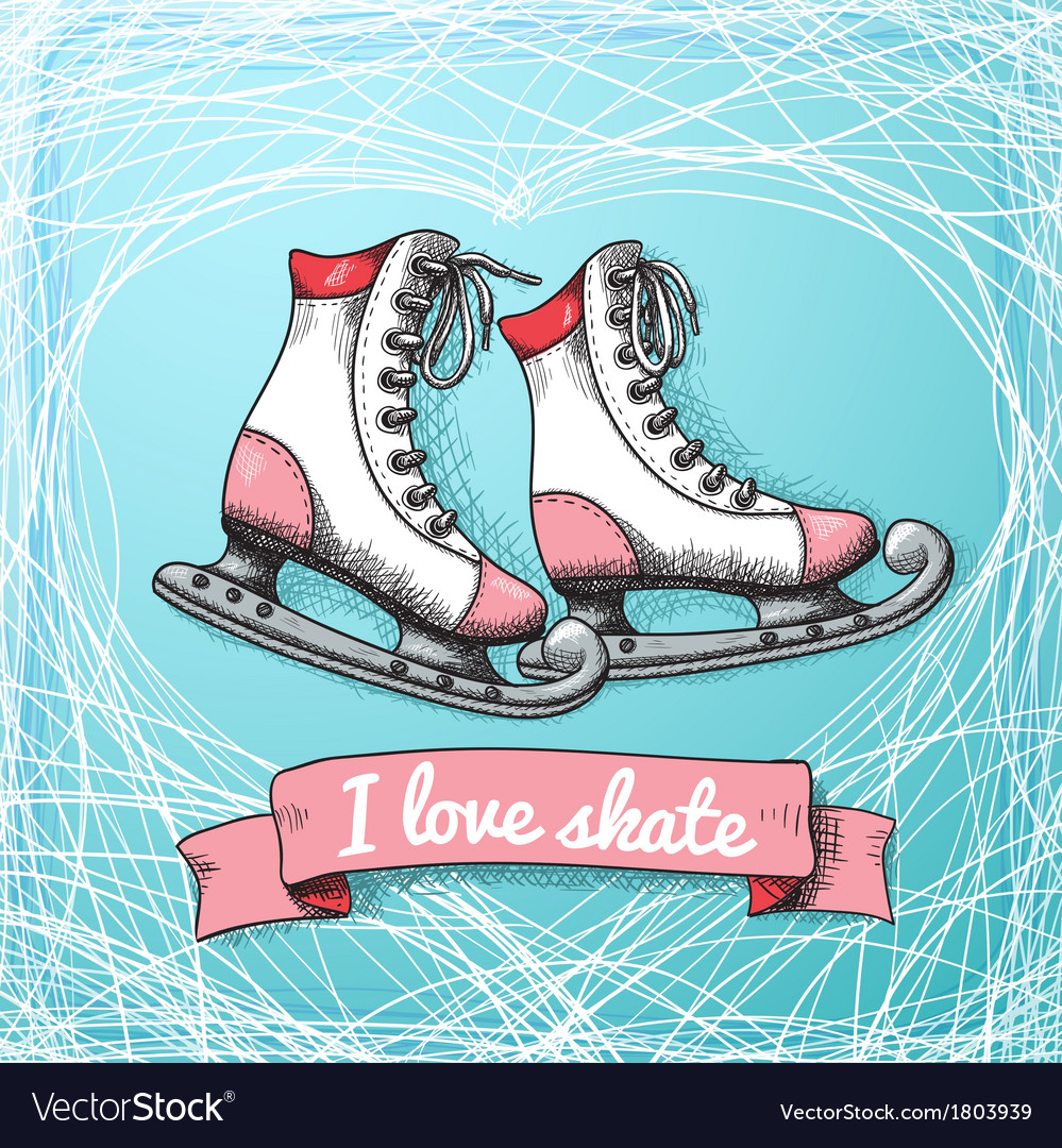 Love skate card theme vector | Price: 1 Credit (USD $1)