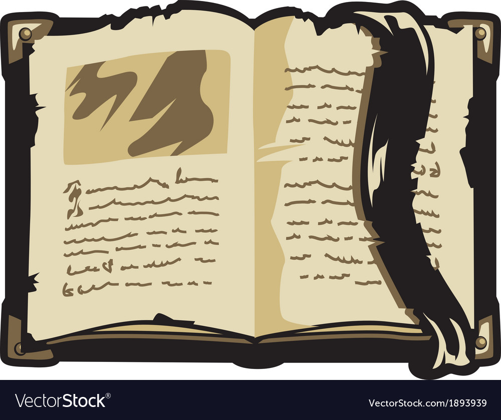 Opened old book vector | Price: 1 Credit (USD $1)