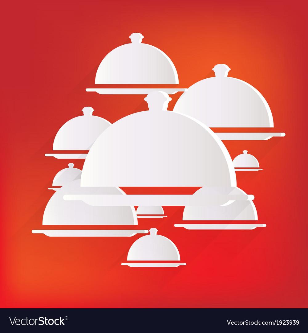 Restaurant cloche icon vector   Price: 1 Credit (USD $1)