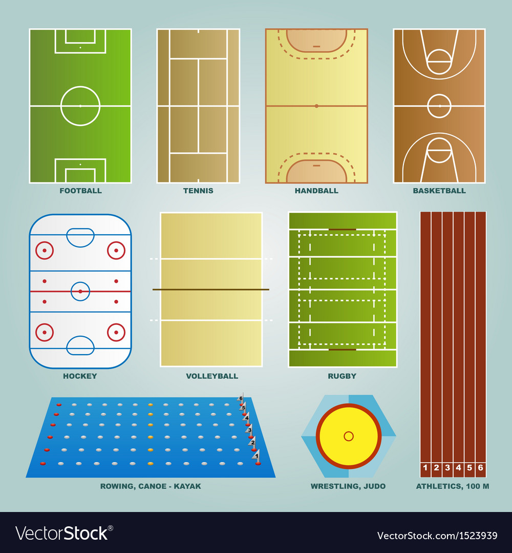 Sport field set vector | Price: 1 Credit (USD $1)
