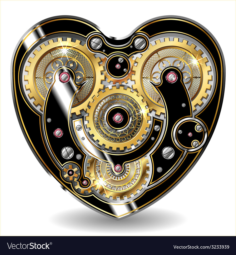 Steampunk mechanical heart vector | Price: 3 Credit (USD $3)