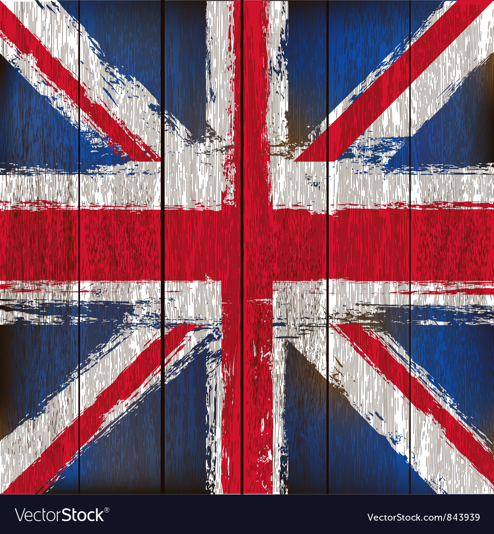 Union jack on wooden planks vector | Price: 1 Credit (USD $1)