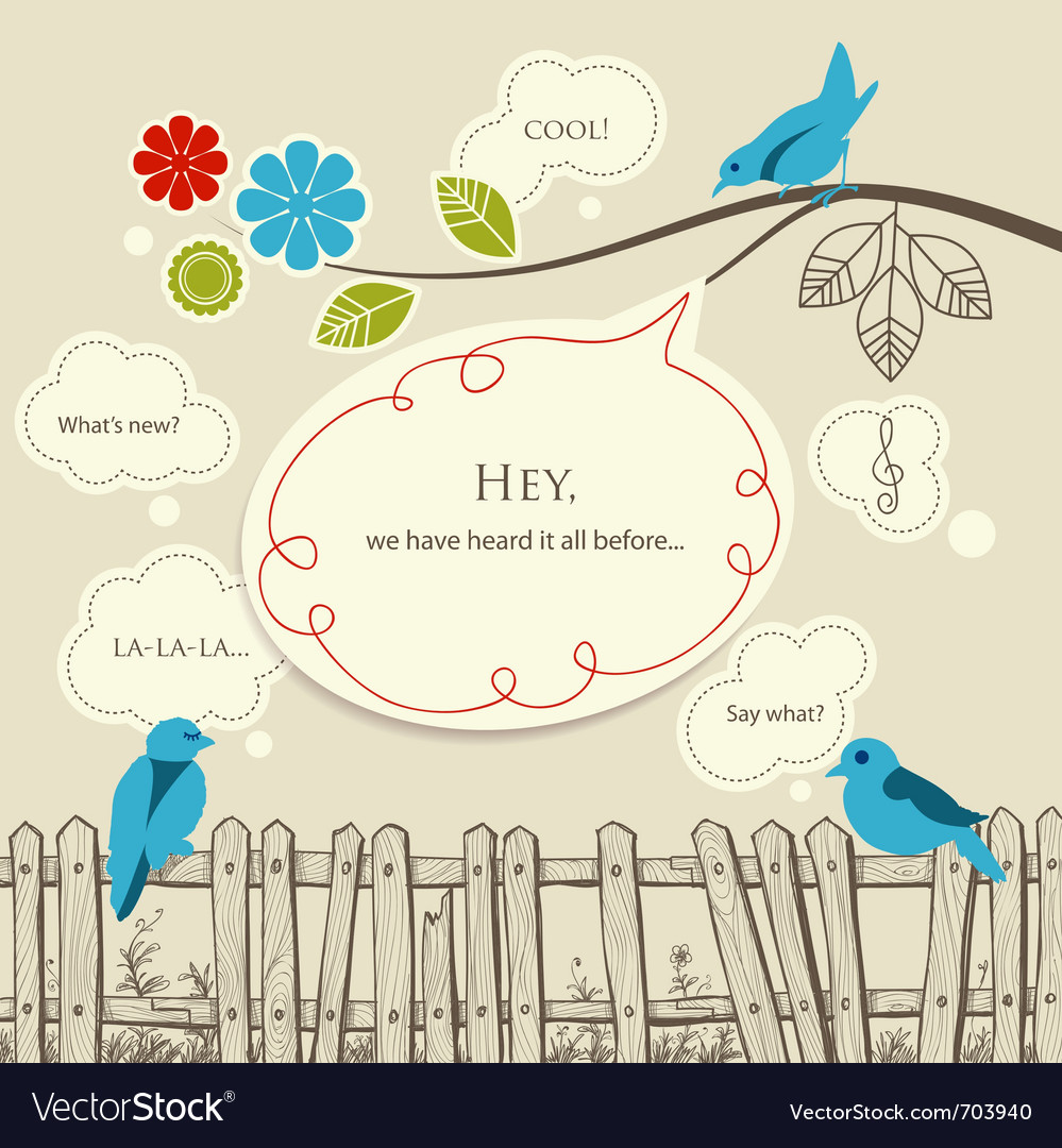 Communication nature vector | Price: 1 Credit (USD $1)