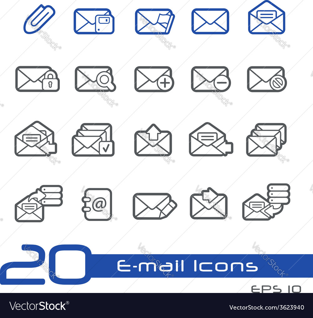 Email outline series vector | Price: 1 Credit (USD $1)