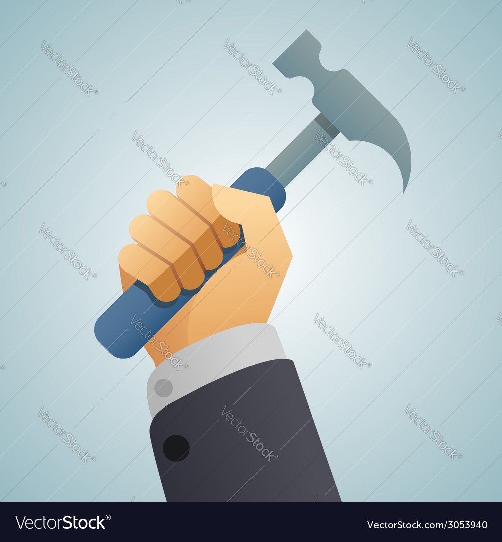 Hand hammer icon vector | Price: 1 Credit (USD $1)