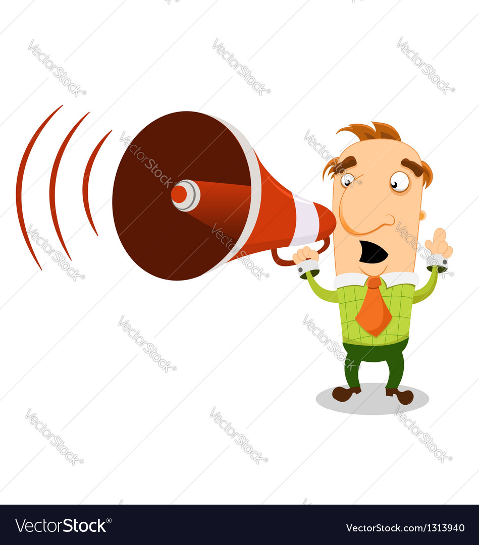 Man with megaphone vector | Price: 3 Credit (USD $3)