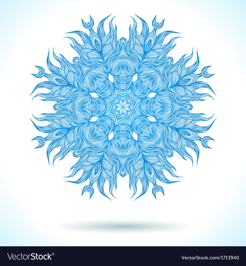 Modern mandala or snowflake design vector | Price: 1 Credit (USD $1)