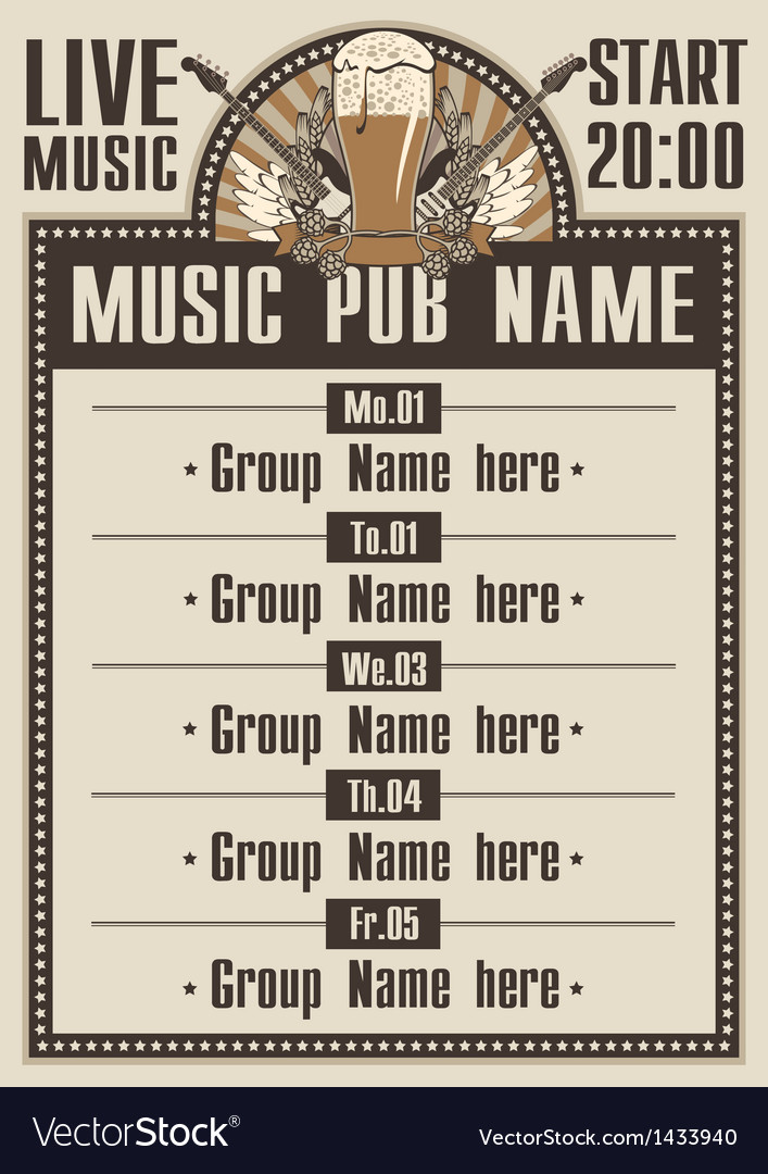 Musical pub vector | Price: 3 Credit (USD $3)