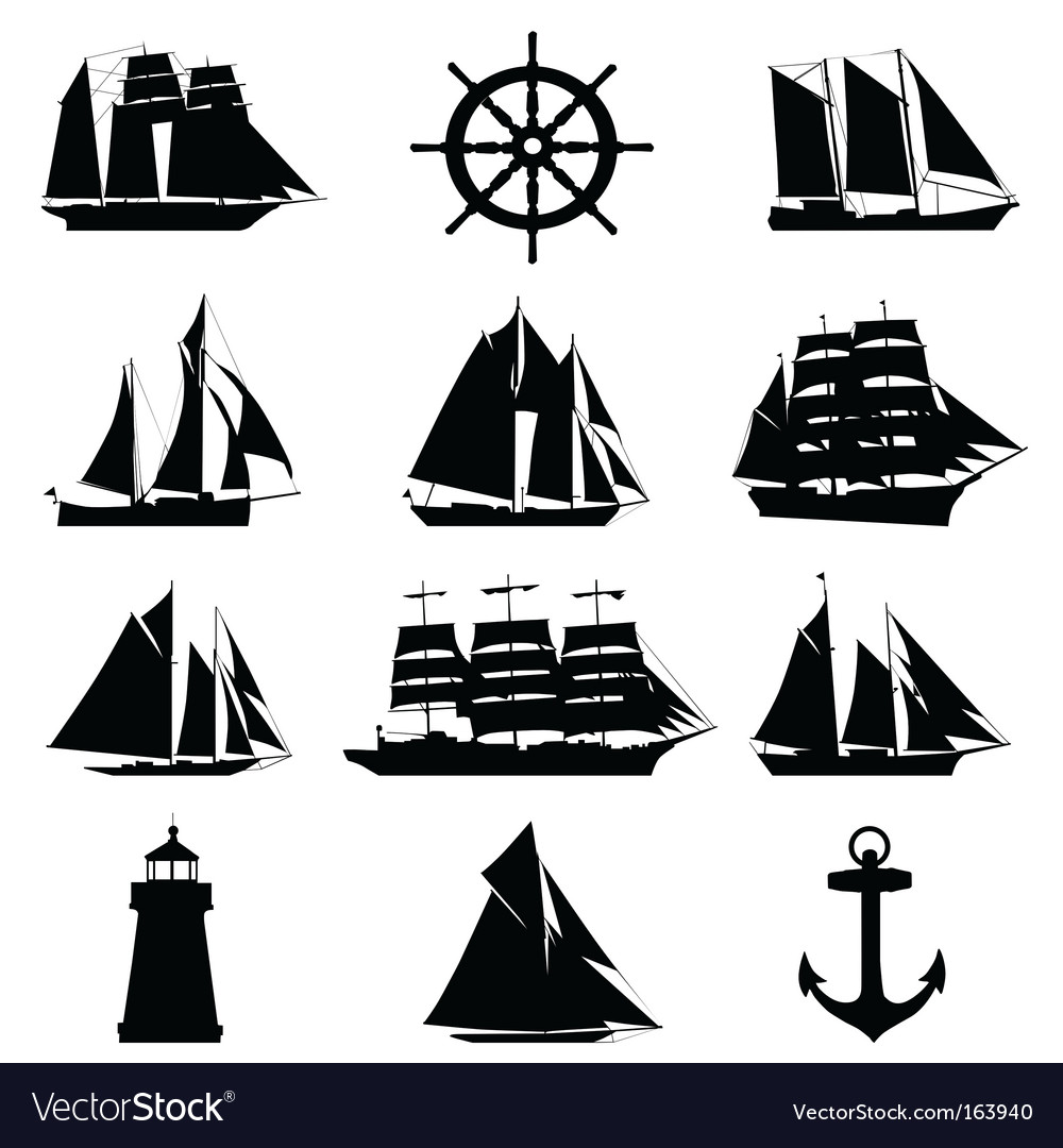 Sailing design elements vector | Price: 1 Credit (USD $1)