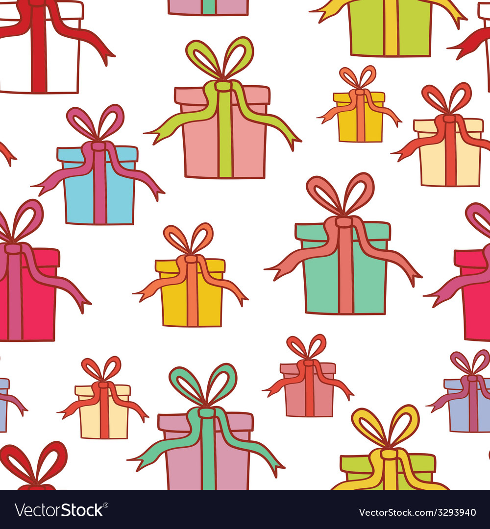 Seamless pattern with colorful present boxes for vector | Price: 1 Credit (USD $1)