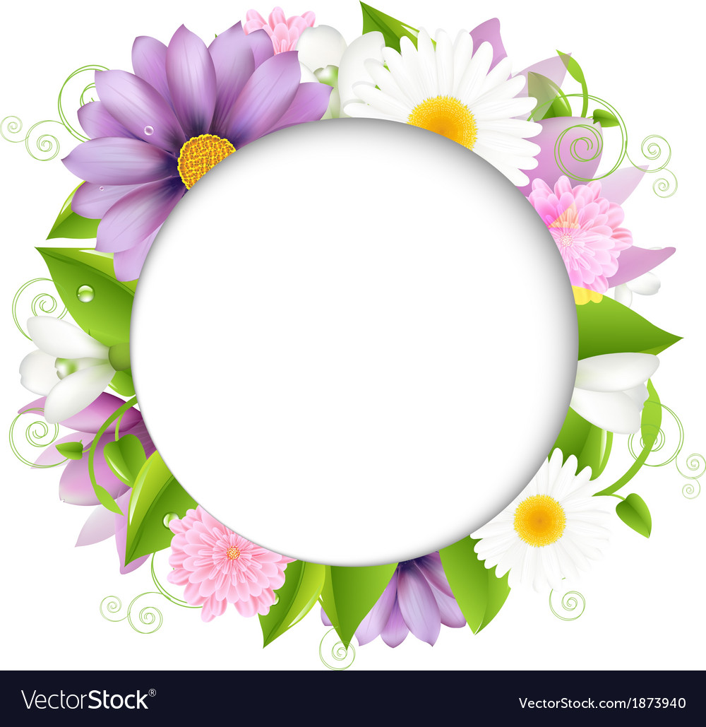 Summer with color flower vector | Price: 1 Credit (USD $1)
