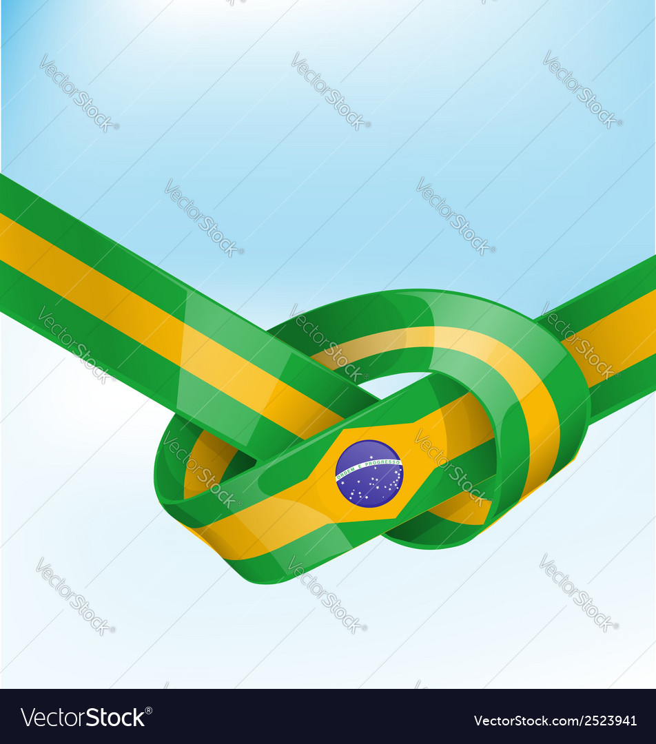 Brazil ribbon flag on background vector | Price: 1 Credit (USD $1)