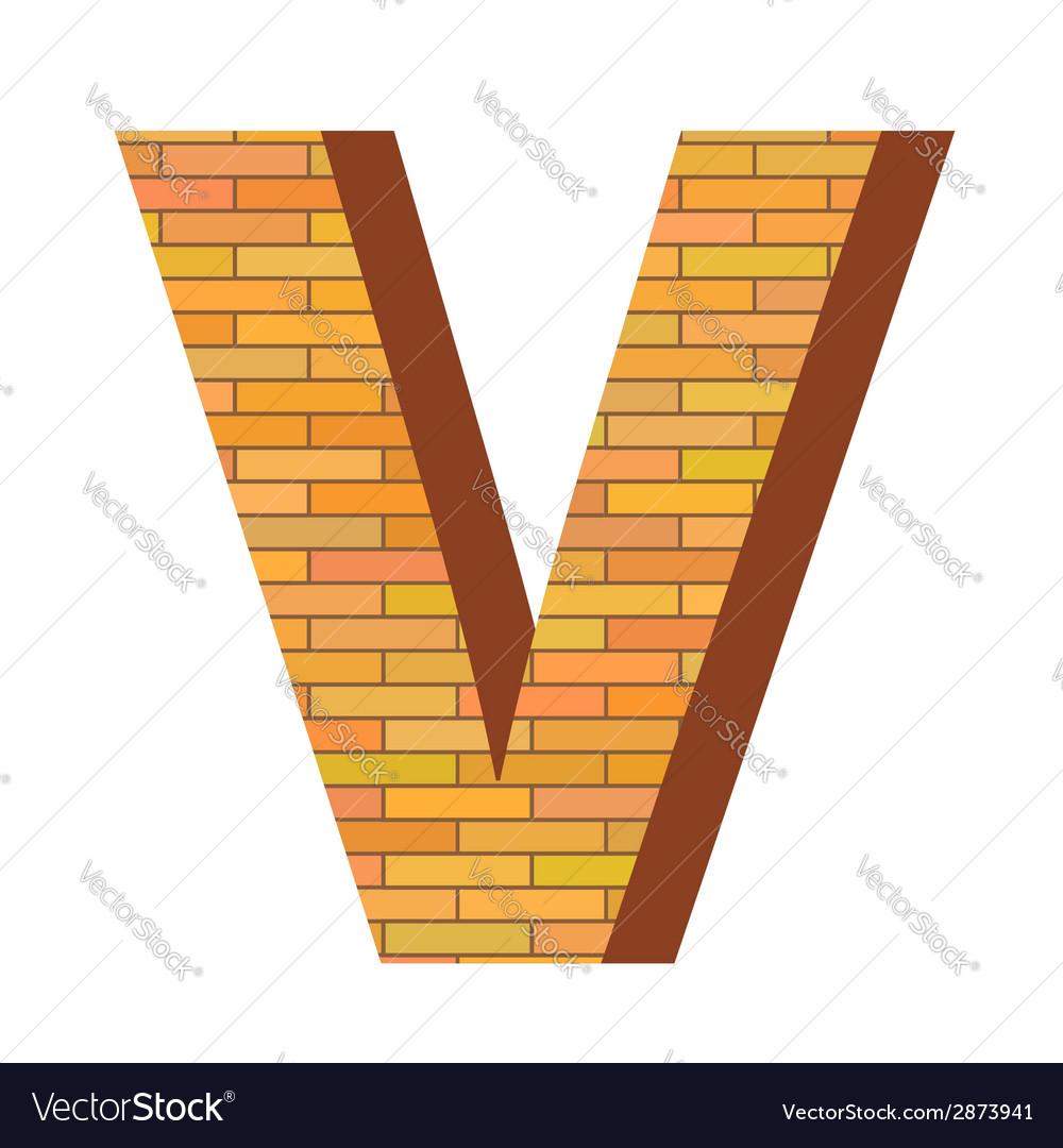 Brick letter v vector | Price: 1 Credit (USD $1)