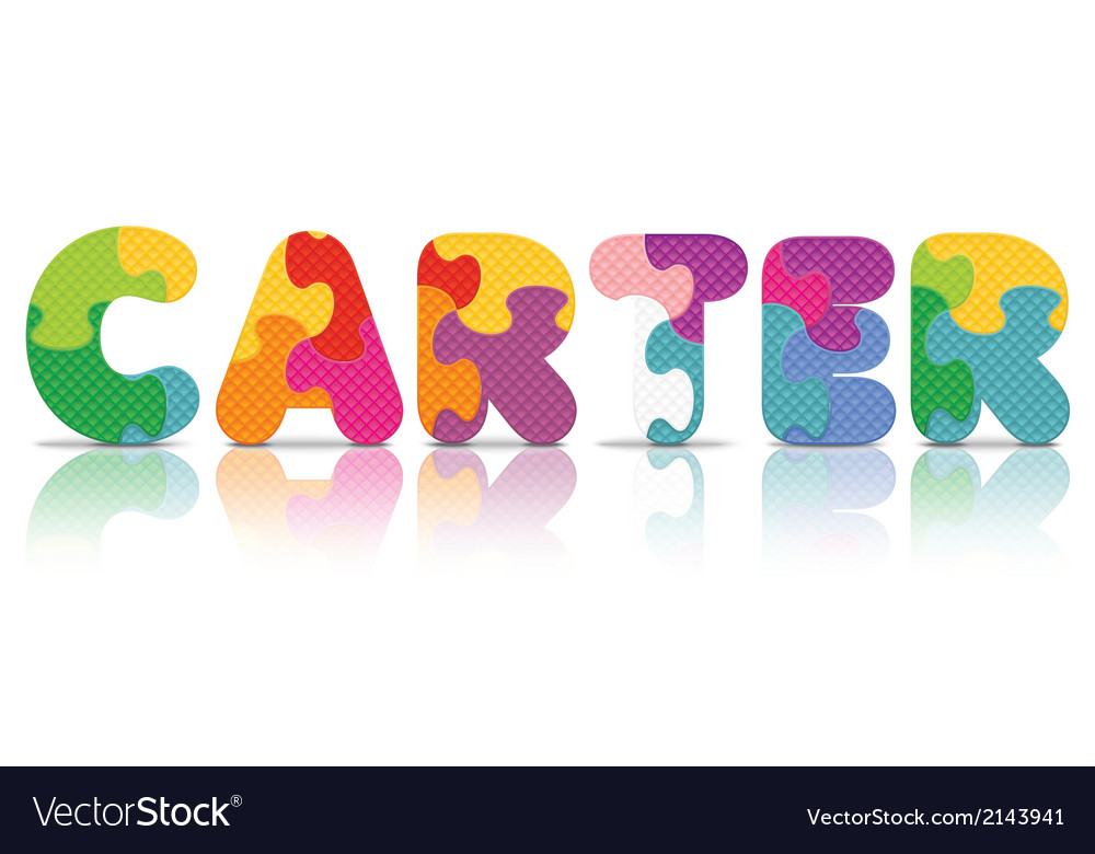 Carter written with alphabet puzzle vector | Price: 1 Credit (USD $1)