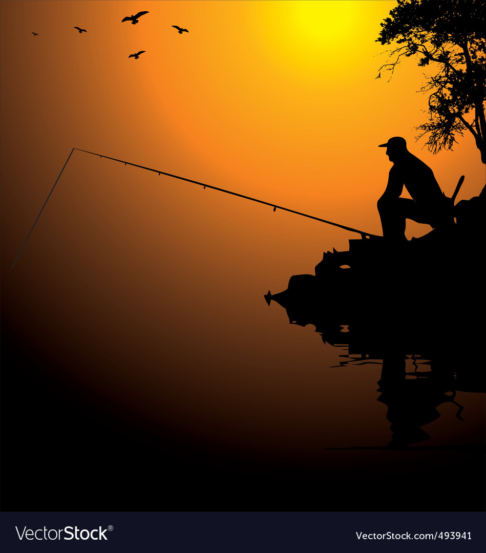 Fisherman vector | Price: 1 Credit (USD $1)