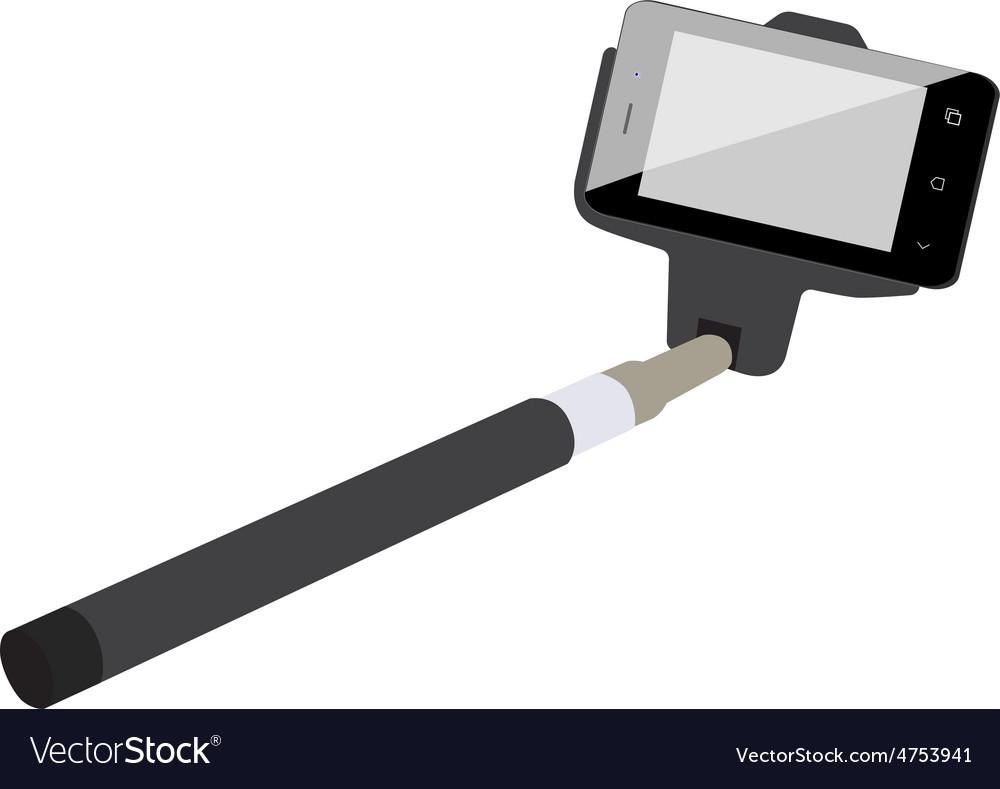Selfie stick vector | Price: 1 Credit (USD $1)
