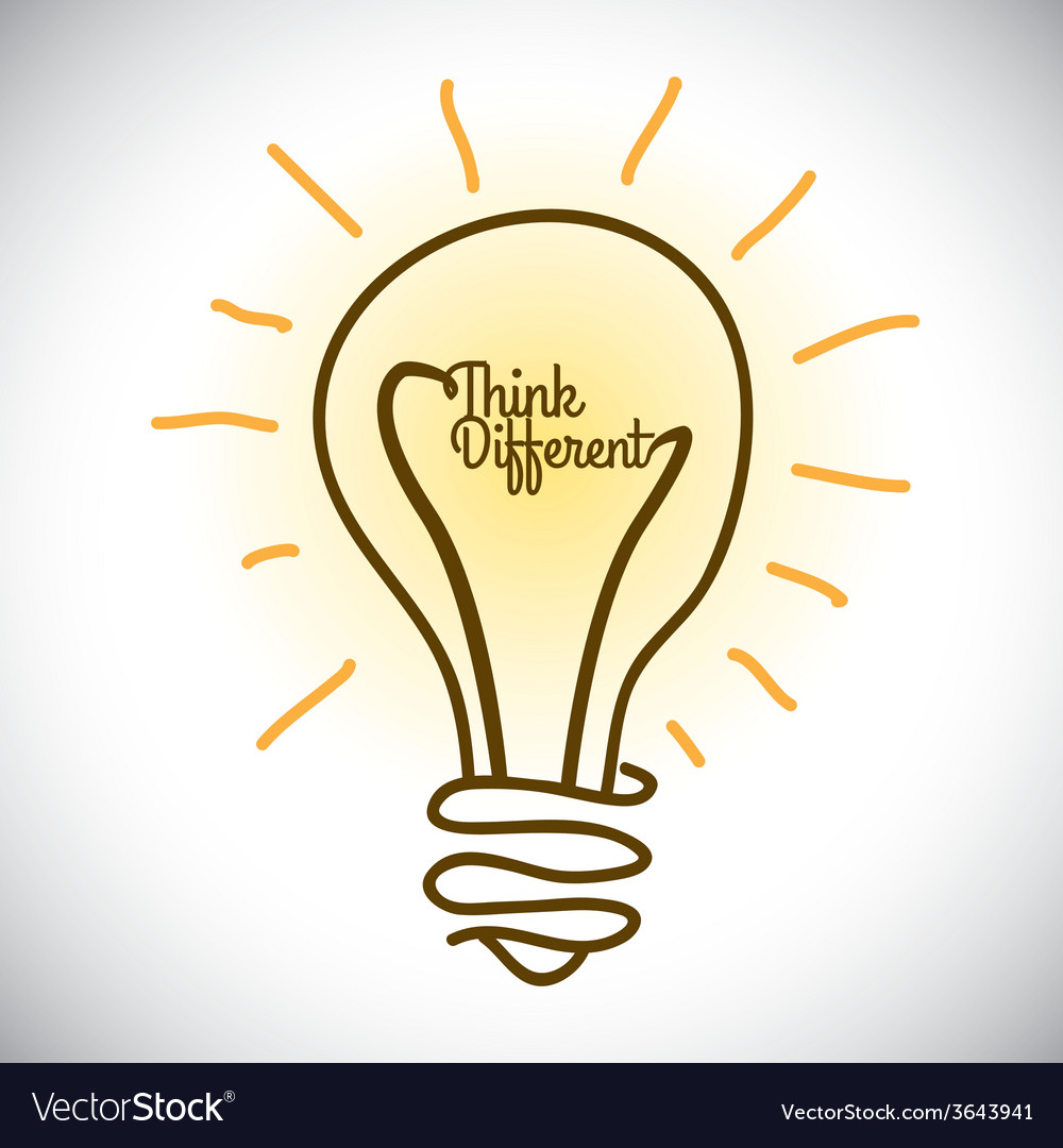 Think different vector   Price: 1 Credit (USD $1)