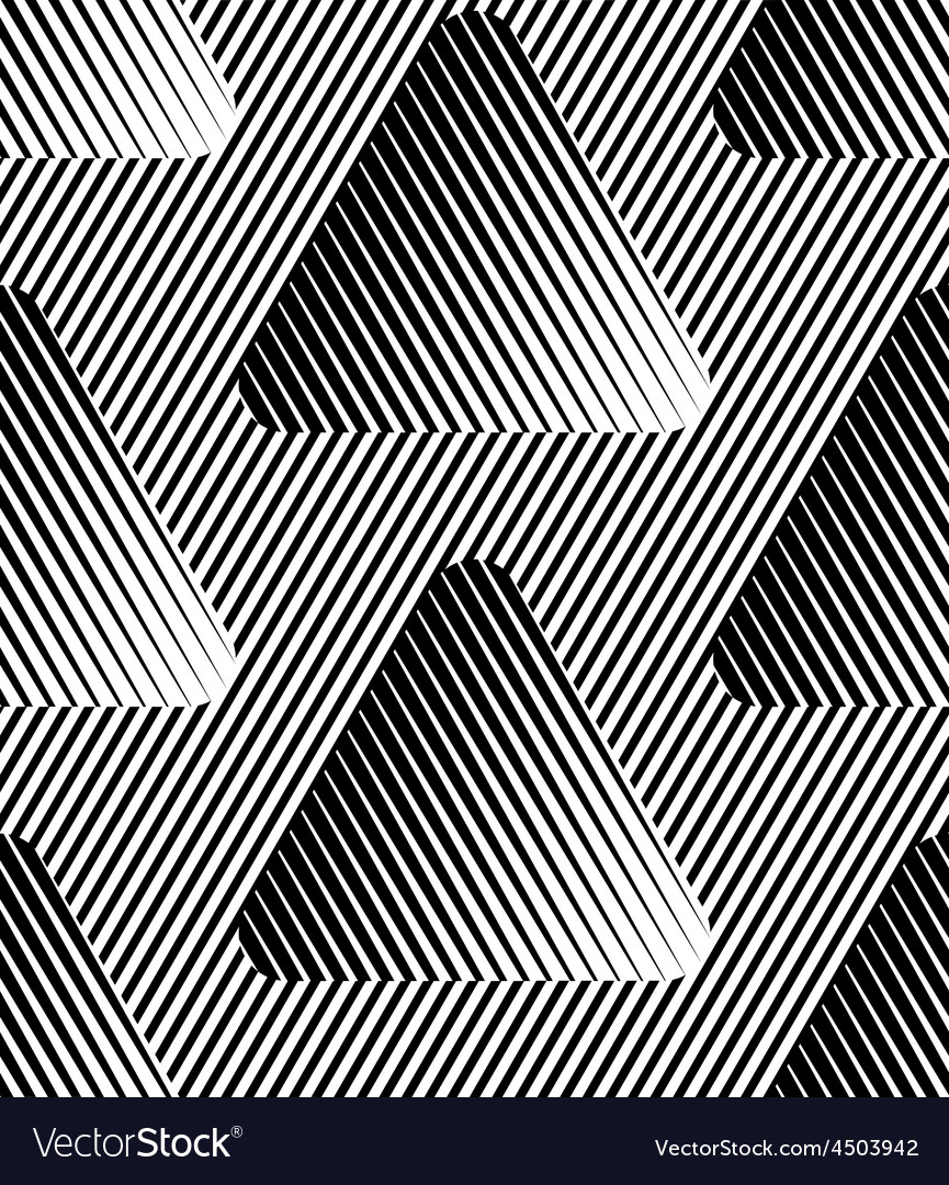 Abstract striped triangles geometric seamless vector | Price: 1 Credit (USD $1)