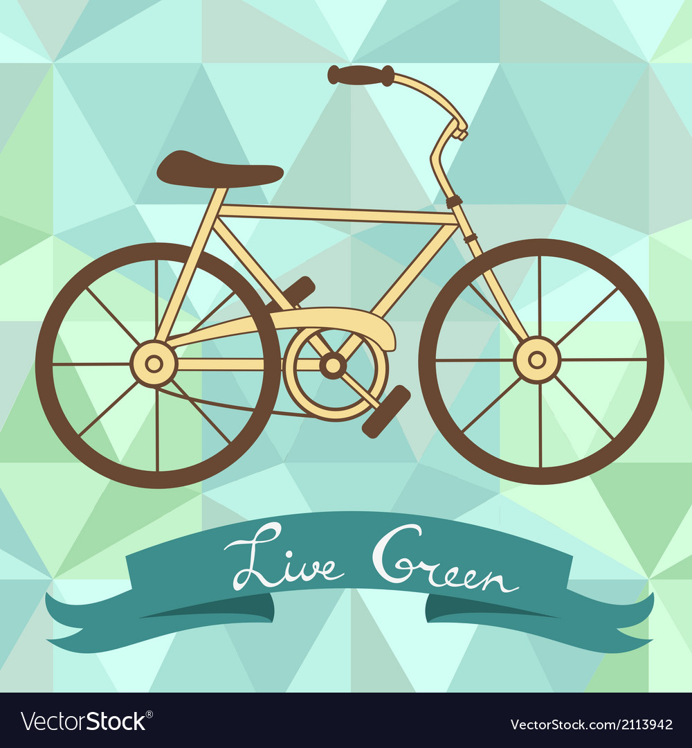 Bicycle on a geometric background vector | Price: 1 Credit (USD $1)