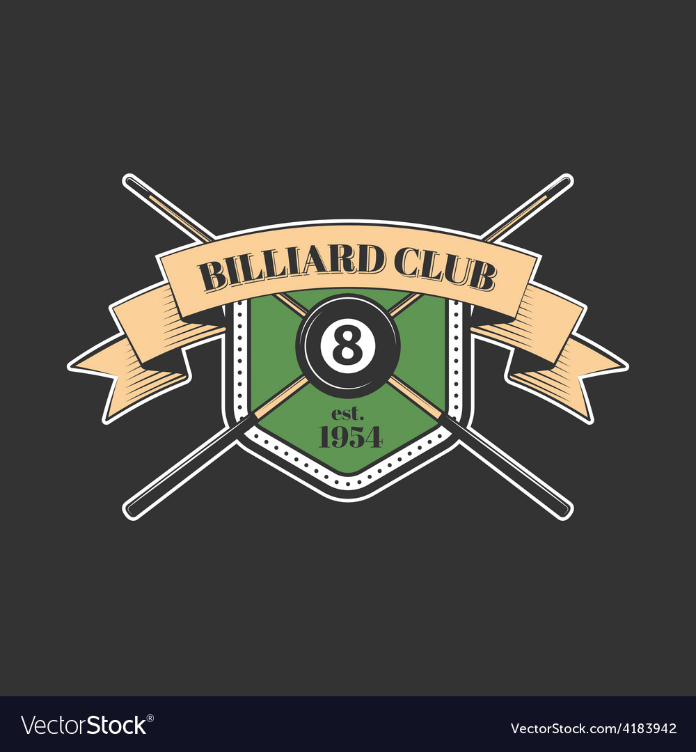 Billiards and snooker sports emblem vector | Price: 1 Credit (USD $1)