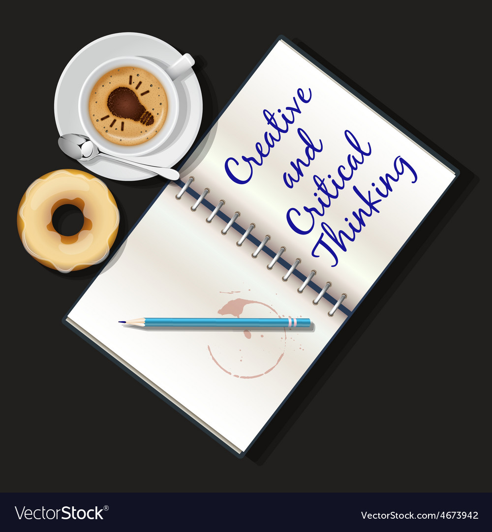 Booklet mug of cappuccino and doughnut vector | Price: 1 Credit (USD $1)