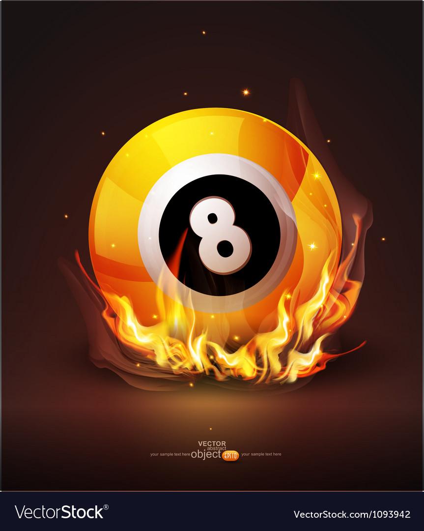 Burning billiard ball vector | Price: 1 Credit (USD $1)