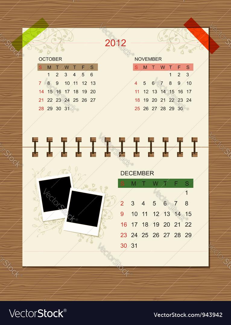 Calendar2012 december vector | Price: 1 Credit (USD $1)