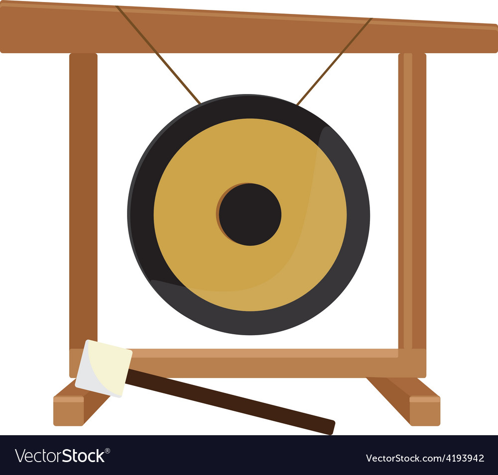 Chinese gong and hammer vector | Price: 1 Credit (USD $1)