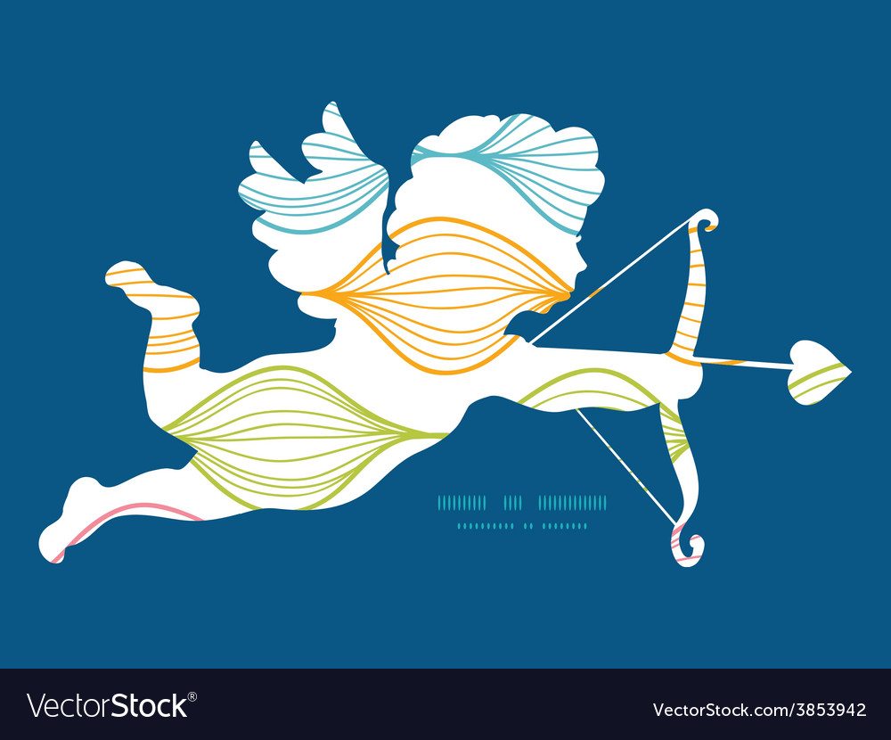 Colorful horizontal ogee shooting cupid vector | Price: 1 Credit (USD $1)