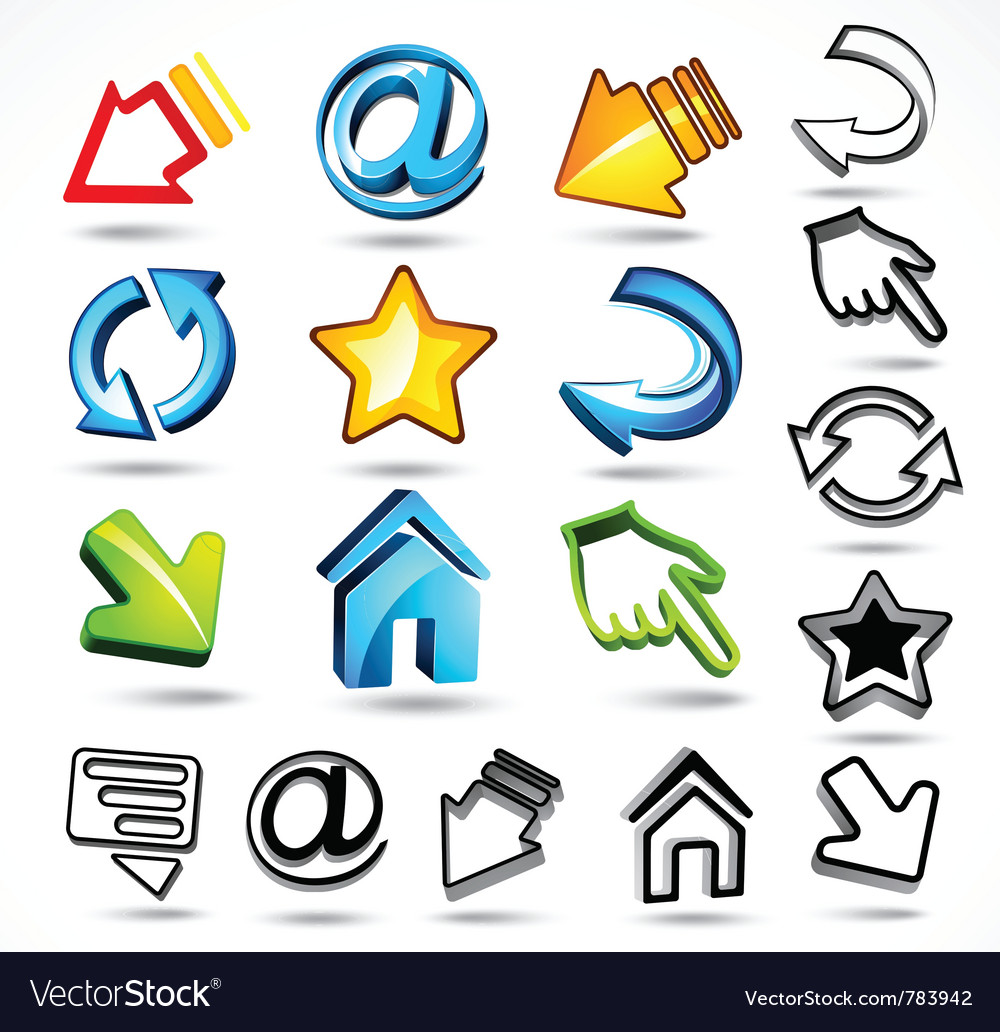 Computer and internet icons vector | Price: 3 Credit (USD $3)