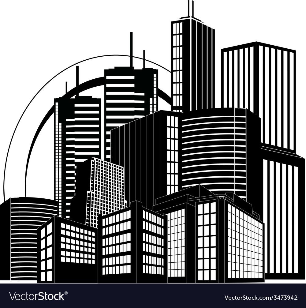 Modern city vector | Price: 1 Credit (USD $1)
