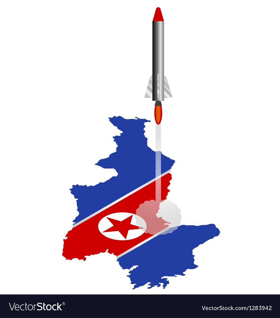 North korea rocket vector   Price: 1 Credit (USD $1)