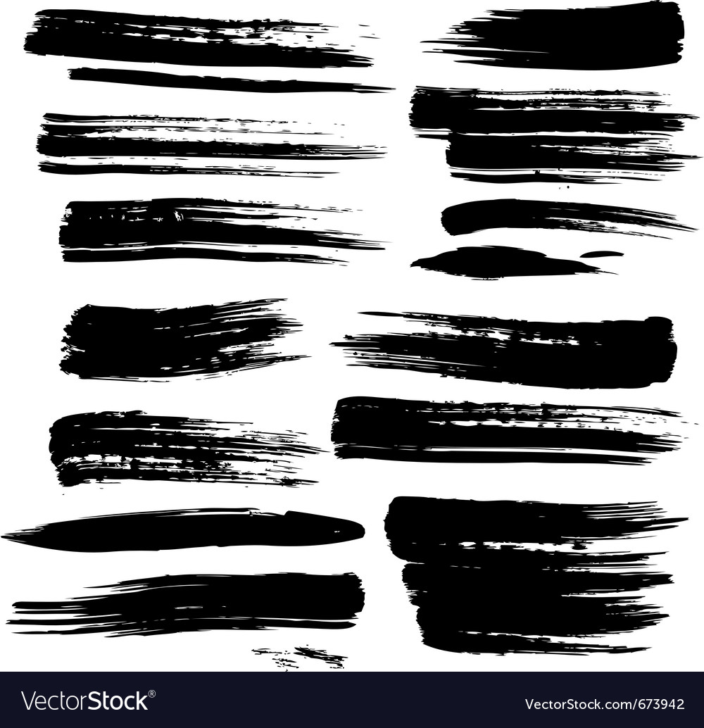 Set of grunge brush strokes vector | Price: 1 Credit (USD $1)