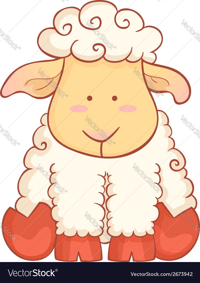 Sheep character of chinese new year symbol vector | Price: 1 Credit (USD $1)