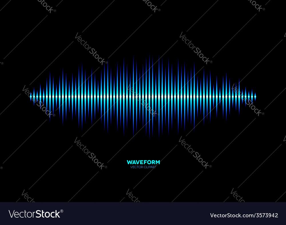Shiny blue music waveform vector | Price: 1 Credit (USD $1)