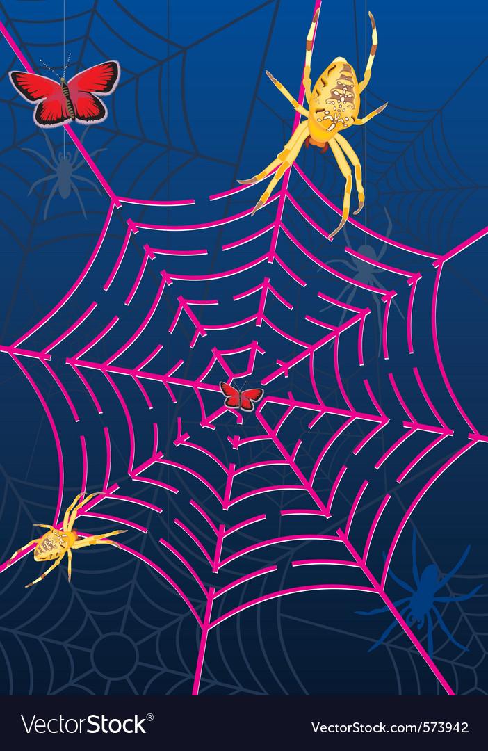 Spider web labyrinth vector | Price: 1 Credit (USD $1)