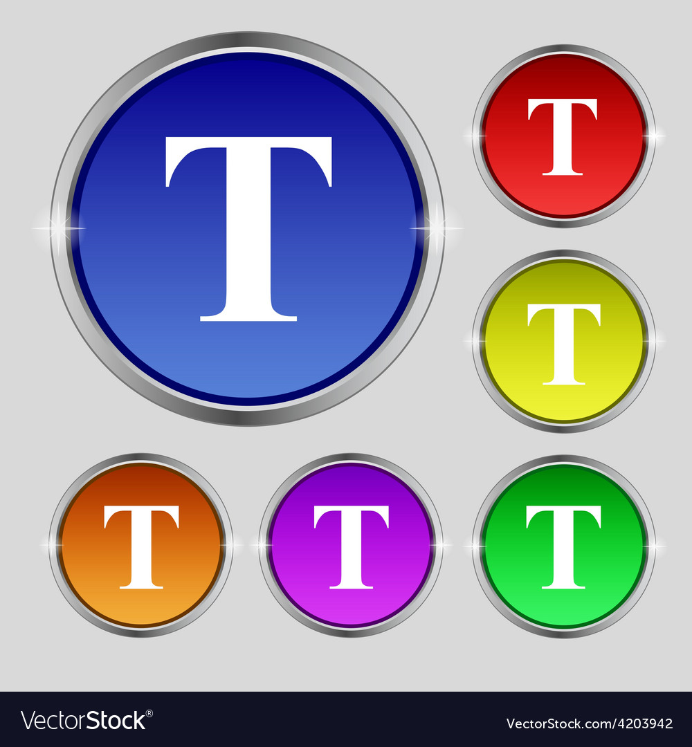 Text edit icon sign round symbol on bright vector   Price: 1 Credit (USD $1)