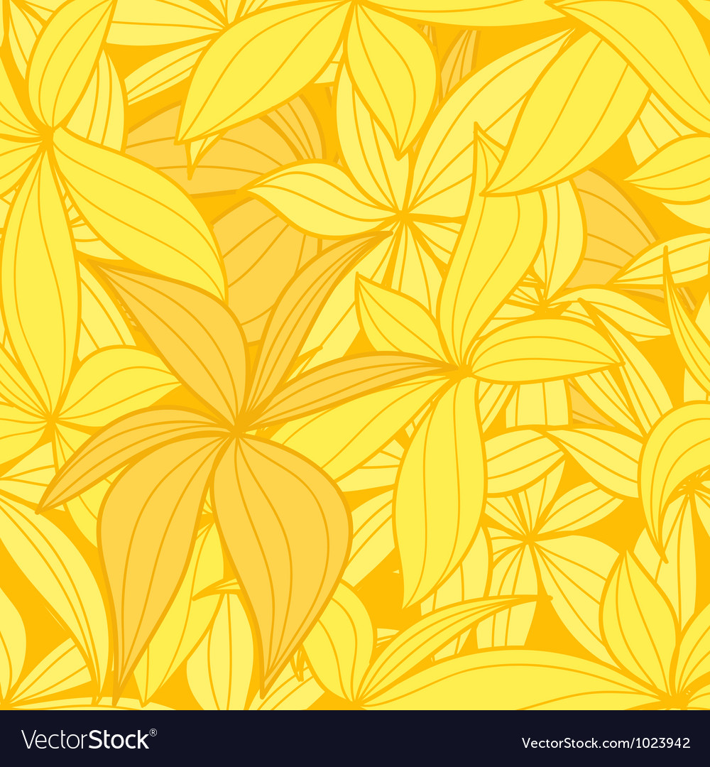 Yellow leaves seamless background vector   Price: 1 Credit (USD $1)
