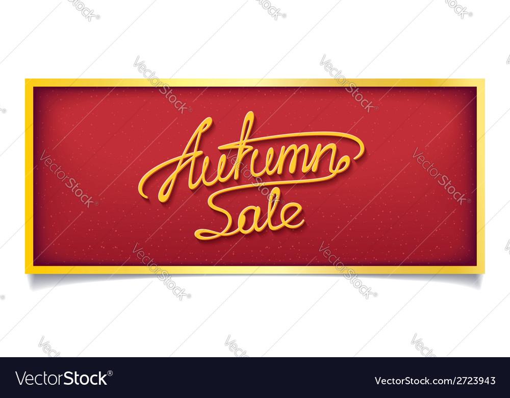 Autumn sale banner vector | Price: 1 Credit (USD $1)